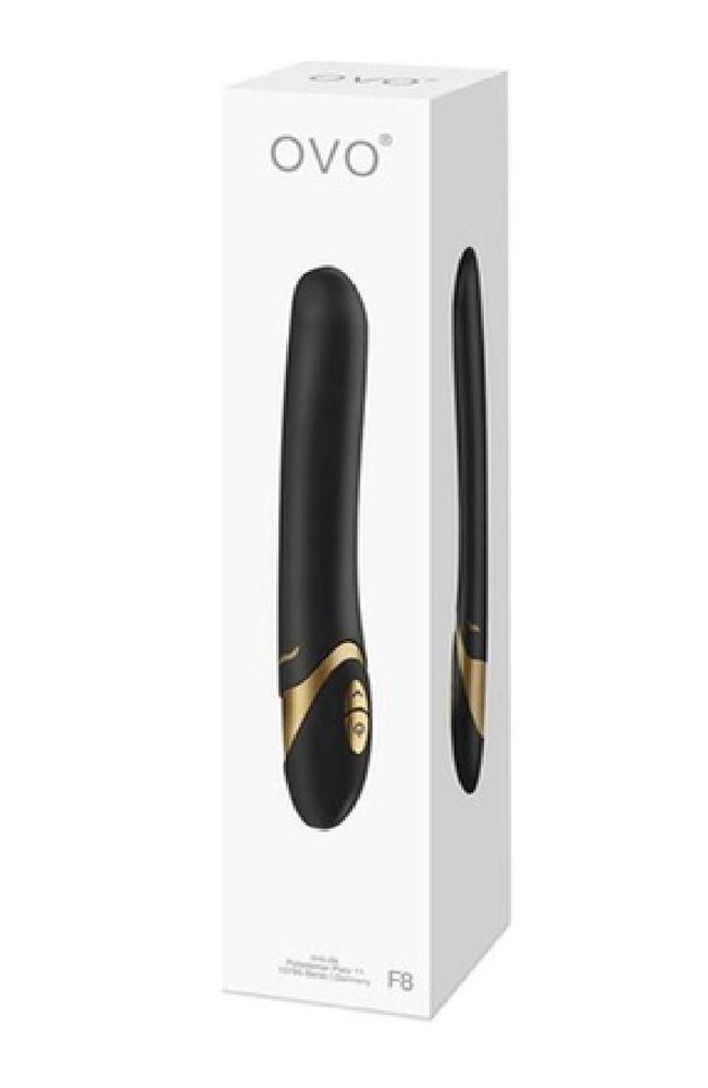 Luxusvibrátor Ovo F8,  20 cm hosszú vízálló vibri