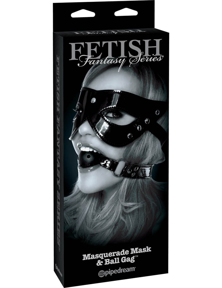 Pipedream fetish fantasy limited edition masquerade mask & ball gag pd4447-23 black