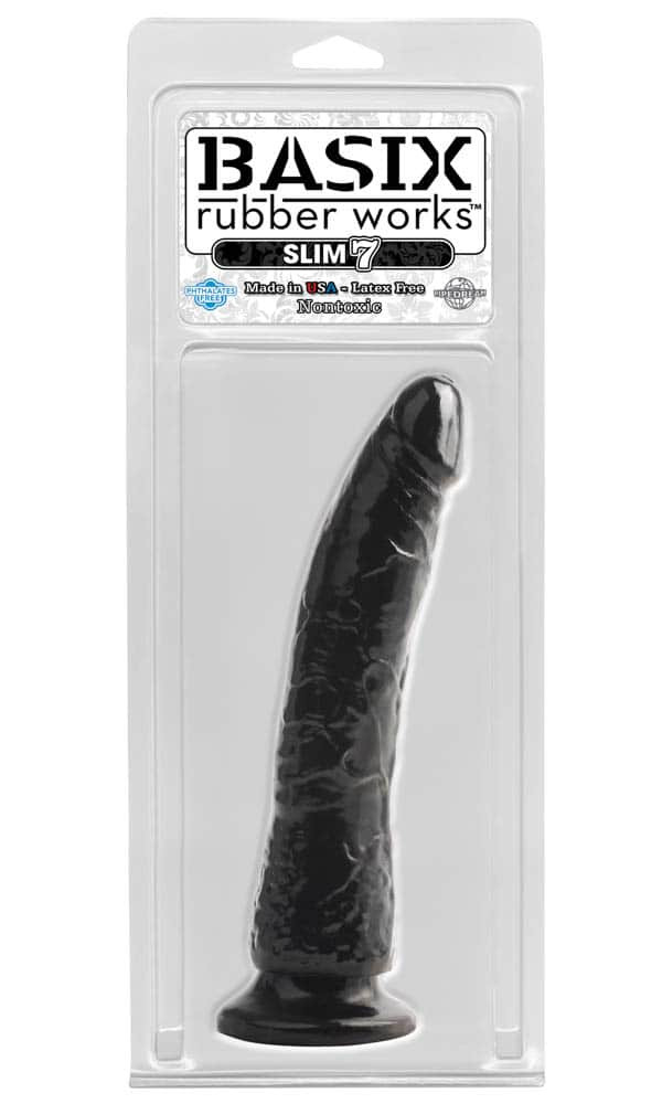 Basix rubber works slim 7 inch with suction cup