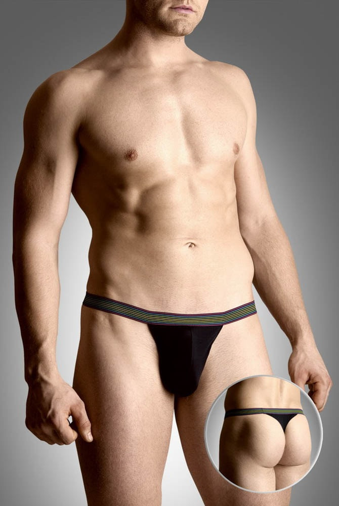 Mens thongs 4496 - black (xl)