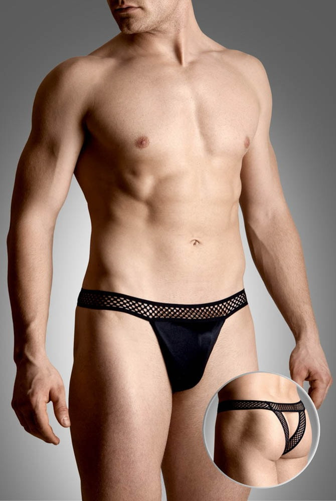 Mens thongs 4486 - black m/l