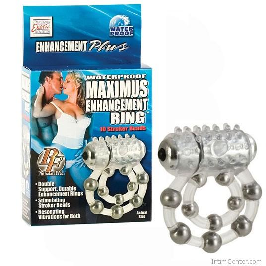 Vibrációs péniszgyűrű, Maximus dupla hurkos, gyöngyös erekciógyűrű