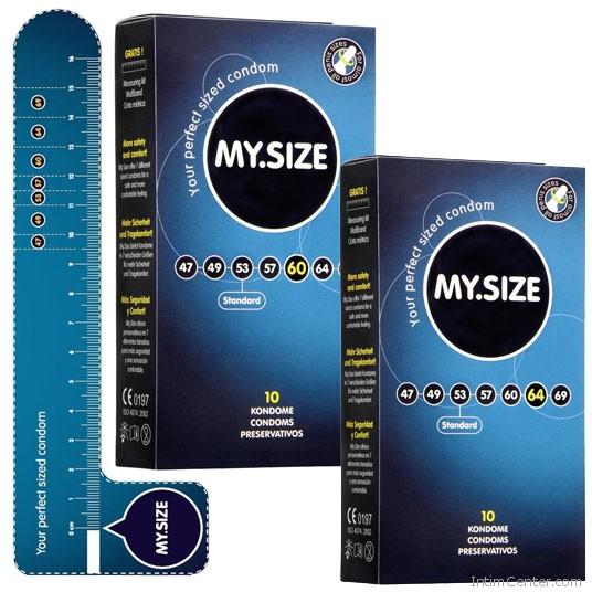 MySize 10 darabos kondom csomagok,  (60)