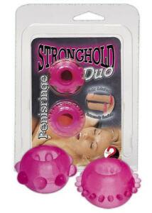 Zselés duó péniszgyűrű, rózsaszín