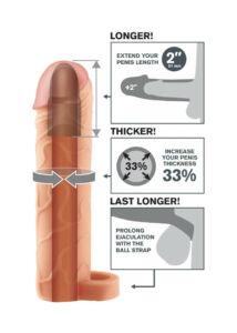 Élethű heregyűrűs péniszköpeny - világos
