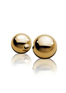 Ff 2 db-os fém gésagolyók - arany