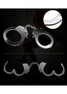 Fetish pleasure metal hand cuffs