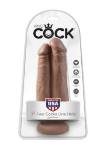King cock 7 inch two cocks one hole
