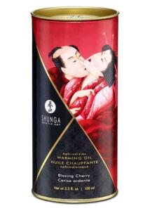 Shunga - melegítő hatású masszázsolaj (cseresznye) - 100 ml