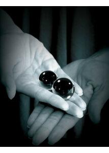 Ff medium 2 db-os üveg gésagolyók - fekete
