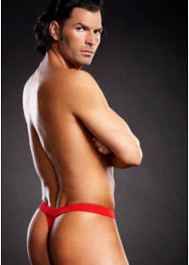 Performance microf. thong red l/xl