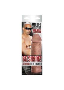 Nagy méretű péniszhosszabbító Shane Diesel farkáról mintázva