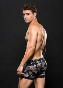 Logo elastic boxer brief l/xl gray camo