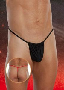 Thong 4470. vékony pántos férfitanga - fekete (s/l)