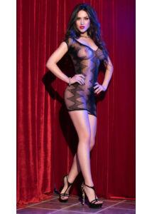 Cr 4052  sm  black seamless minidress