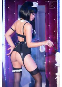 Cr 4152  s/m  maid corset set
