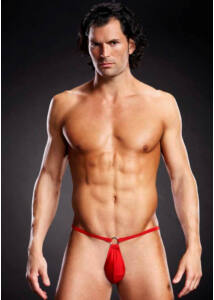 Microfiber pouch bikini red s/m