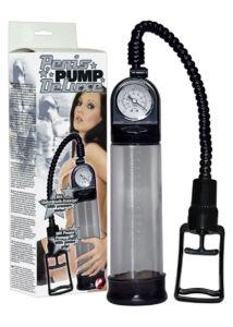 Deluxe péniszpumpa. pumpakirály atmoszféra kontroll, stramm t-fogantyúval fekete 22x6 cm