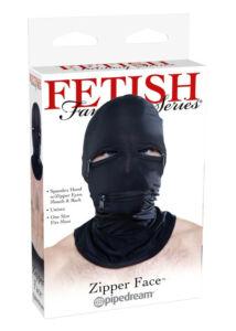 Zipzáros fétismaszk ii - fekete