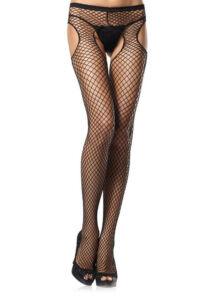 Garterbelt pantyhose - black - o/s - hosiery