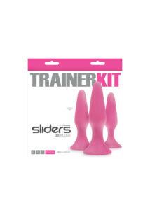 Sliders 3 részes análplug szett - rózsaszín