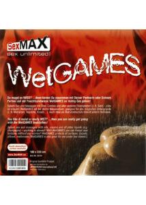 Ágytakaró PVC nedves játékokhoz 180 x 220 cm fekete Sexmax