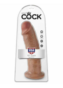King cock élethű barna dildó 25,5 cm