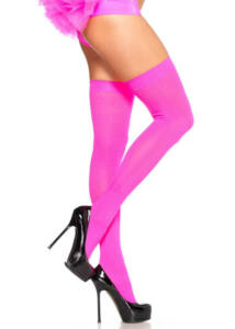 Nylon over the knee - neon pink - o/s - hosiery