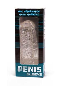 Penis sleeve clear. péniszvastagító péniszköpeny elasztikus szilikon 14 cm
