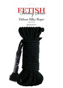 Deluxe silky rope bondage kötél 9,75 méter (fekete)