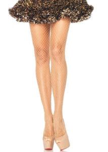 Lycra fishnet pantyhose - nude - o/s - hosiery