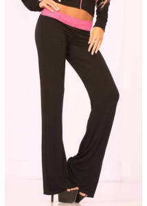 Lace trim lounge pants, l t