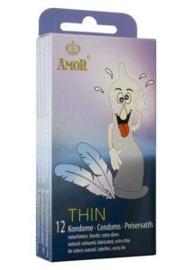Thin vékonyfalú óvszer - 12 db