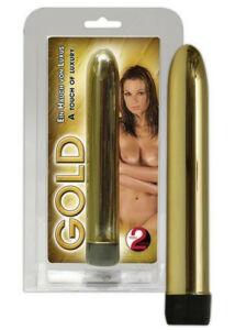 Rúdvibrátor, fémes csillogású vibri arany színben