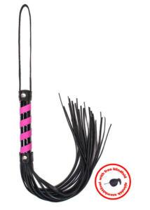 Angel touch black_pink leather with blindfold korbács és szemmaszk