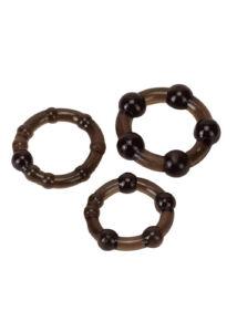 Pro rings 3 db-os péniszgyűrű szett - fekete