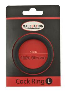 Szilikon péniszgyűrű Malestation fekete 4,5 cm
