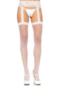 Sheer thigh highs - white - o/s - hosiery