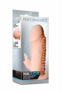 Péniszköpeny csiklóizgatóval farokra Performance Dual Sleeve