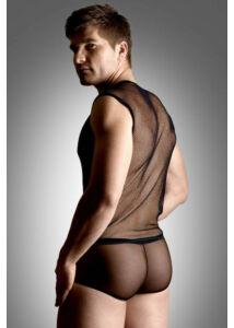 Net set - shirt and thong - black    m/l