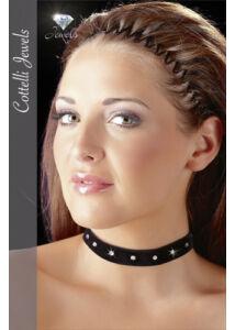 Cottelli - bársonyos, strasszos nyakpánt