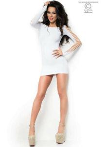 Cr 3608  sm  white seamless minidress