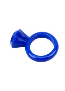 Diamond cock ring blue