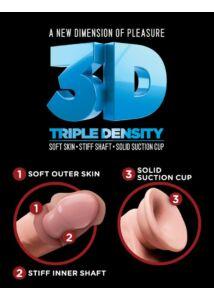 King cock plus 24 cm-es triple density double penetrator