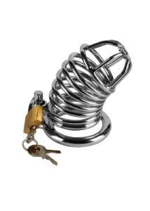 Péniszketrec fémből Metal chastity cage