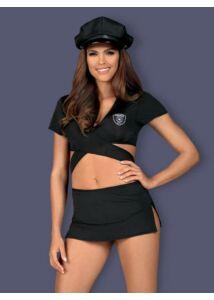 Rendőrnő jelmez L/XL fekete