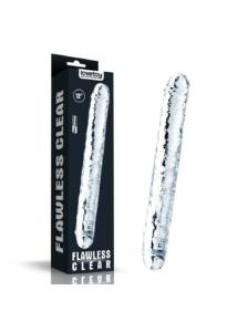 Kétvégű dildó 30 cm (12'') flawless clear double dildo