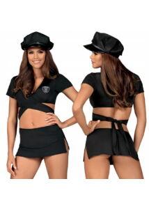 Rendőrnő szexi jelmez szet S/M fekete