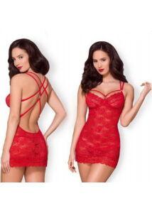 Csipke kombiné piros obsessive erotikus hálóing