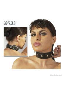 Szegecses valódi bőr nyakörv, Zado márka